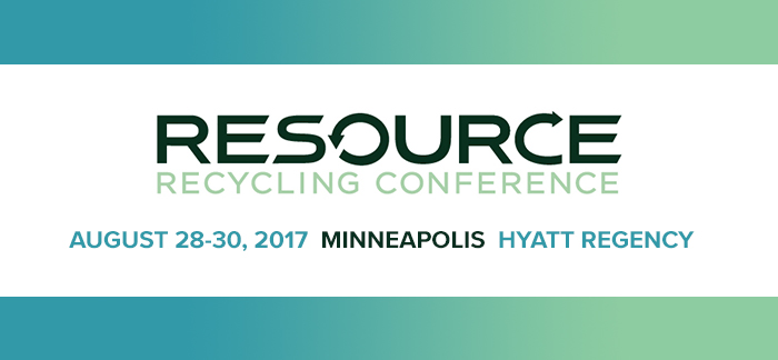 Join us at the 2017 Resource Recycling Conference