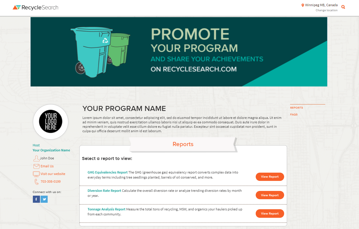 RecycleSearch Profile