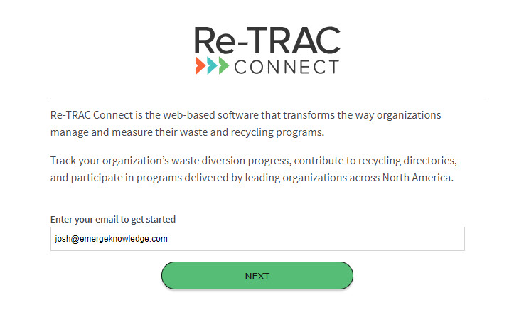Logging into Re-TRAC