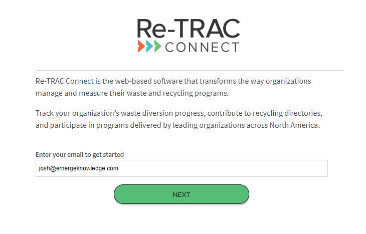 Logging into Re-TRAC