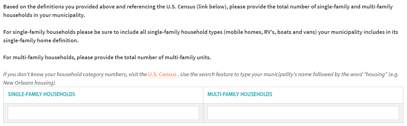 Single-family and multi-family householdsSingle-family and multi-family households